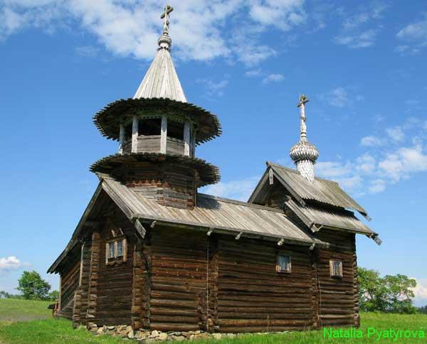 Часовня Михаила Архангела на острове Кижи.