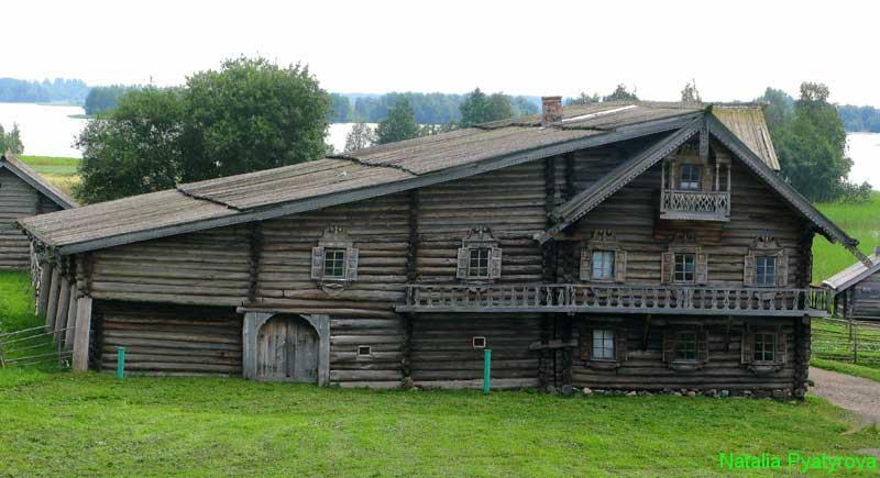 Дом Ошевнева из деревни Ошевнево на острове Кижи.
