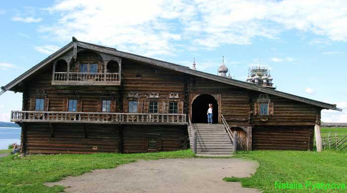 Дом Ошевнева на острове Кижи.