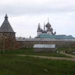 Соловецкий монастырь. Вид со стороны Святого озера.