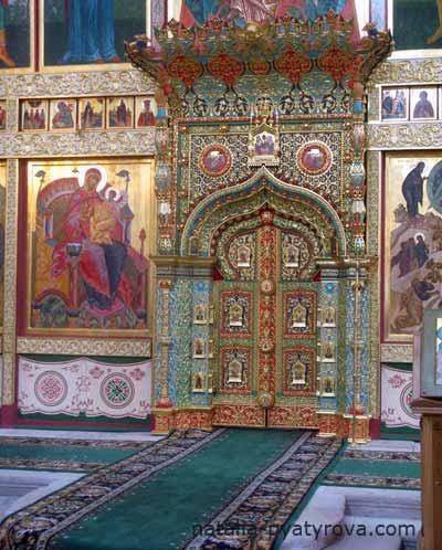 Соловецкий монастырь. Иконостас Спасо-Преображенского собора. Царские врата.
