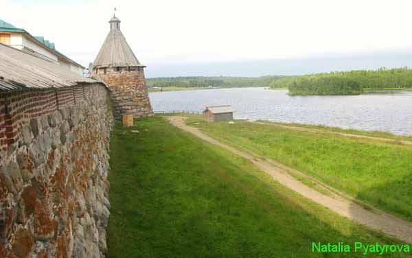 Соловецкий монастырь. Восточная стена крепости.