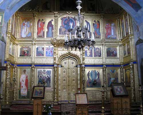 Соловецкий монастырь. Иконостас Благовещенской церкви.